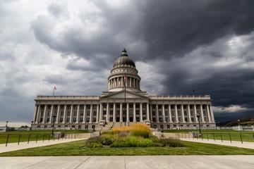 Thunderstorm rising above the Capitol in Salt Lake City, Utah