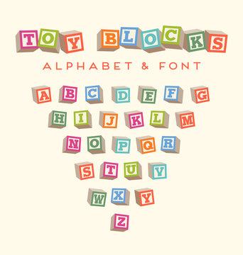 alphabet blocks baby blocks font
