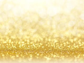 gold abstract bokeh lights.