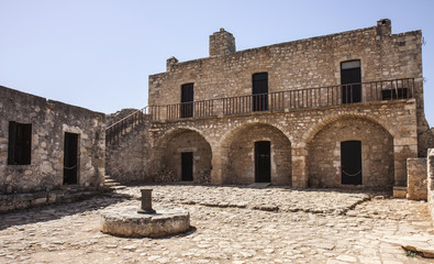Impressive courtyard at Aptera on Crete