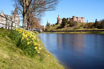 Inverness Castle and River Ness, Scotland