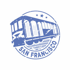 Vector San Francisco Rubber mail stamp