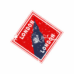Vector London Rubber Diamond Mail stamp