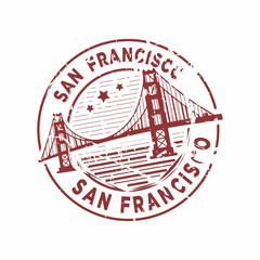 Vector San Francisco Rubber stamp