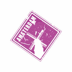 Vector Amsterdam Rubber Diamond mail stamp