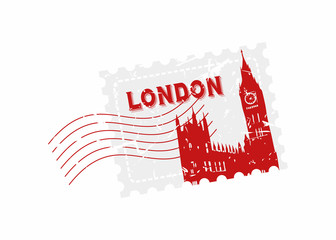 Vector London Rubber Mail stamp