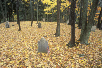 Revolutionary War Cemetery in autumn, NY