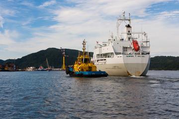 The tug and the ship