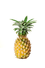 Isolated pineapple with clipping path