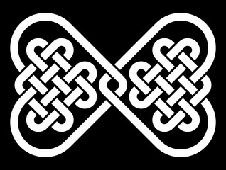 Celtic style knot in the shape of a bowtie