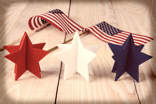 Vintage Stars and Flags