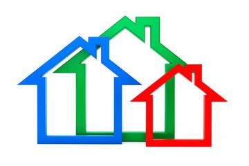 Energy Efficiency House Icons