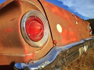 abandon car at farm field