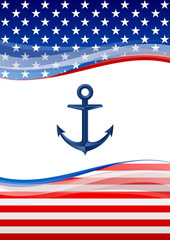 American navy background