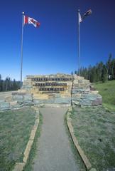 A sign that reads ÒWateron Glacier International Peace ParkÓ