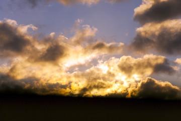 sunset on the sky