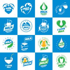 set of logos milk