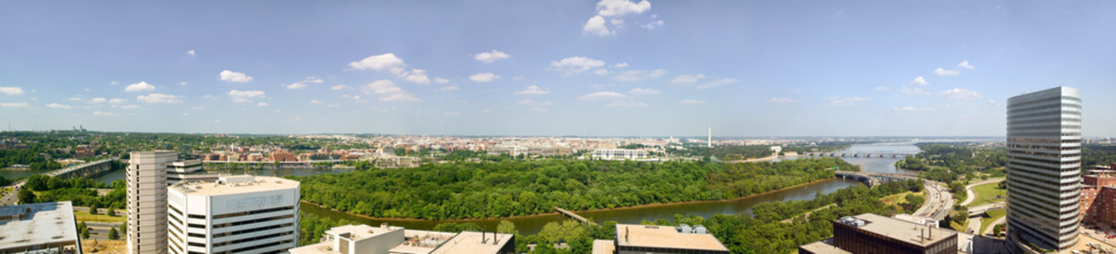 Panoramic aerial view of Washington D.C.