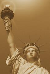 Statue of Liberty sepia toned