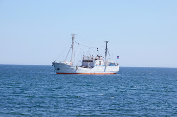 Baikal, Russia - July,26 2015: The research vessel G.Y. Vereschagin on Lake Baikal