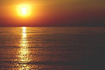 beautiful landscape, sunrise on the sea