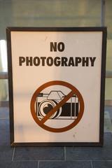 No Photography Sign at Pentagon, Washington D.C..
