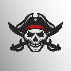 Pirate Skull and swords.