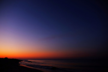 Beautiful sunset on seascape