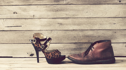Vintage,High heels and Leather shoes