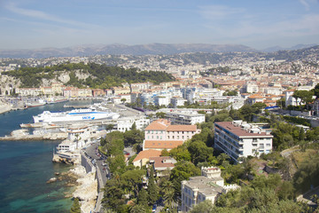 Aerial View of Harbor at Nice, France