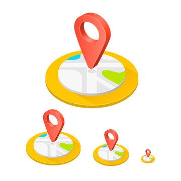 Isometric icon location