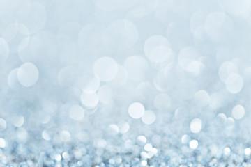 Defocused light background in blue