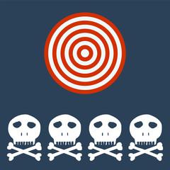 Skull and crossbones. Target concept.
