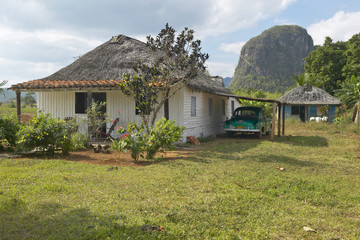 A old house in the Valle de Vi–ales, in central Cuba