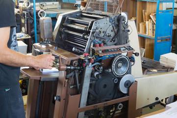 Printing machine offset