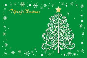 クリスマス 素材 ポストカード