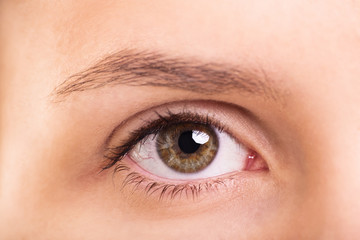 Close up shot of a female eye