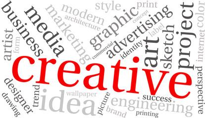Creative Business Word Cloud