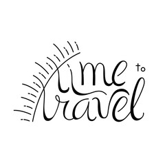 Time to travel lettering design