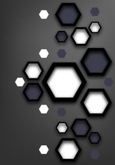 Paper background of hexagons