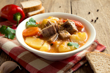stew with meat and vegetables