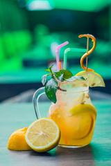 homemade lemonade with lime