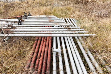 Old rusty pipes and tanks