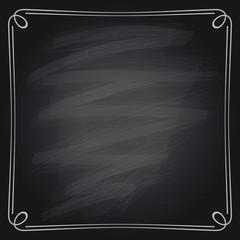 Vector illustration of chalk frame.