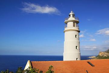 Wall Mural - Cap Gros lighthouse in Port Soller, Mallorca