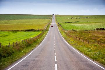 long road across moorland on the isle of skye  - Great Britain, UK, Europe