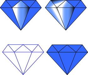 diamond vector icon, brilliant, symbol