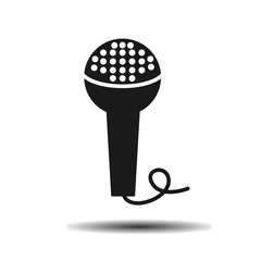 black microphone theater