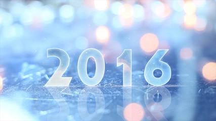 2016 greting and christmas lights