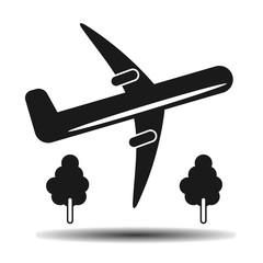 takeoff plane black